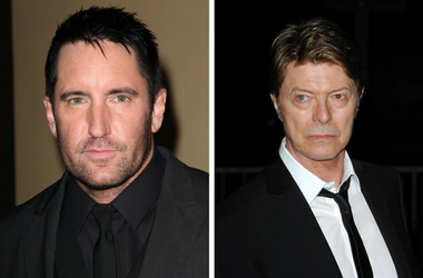 Trent Reznor of Nine Inch Nails and David Bowie