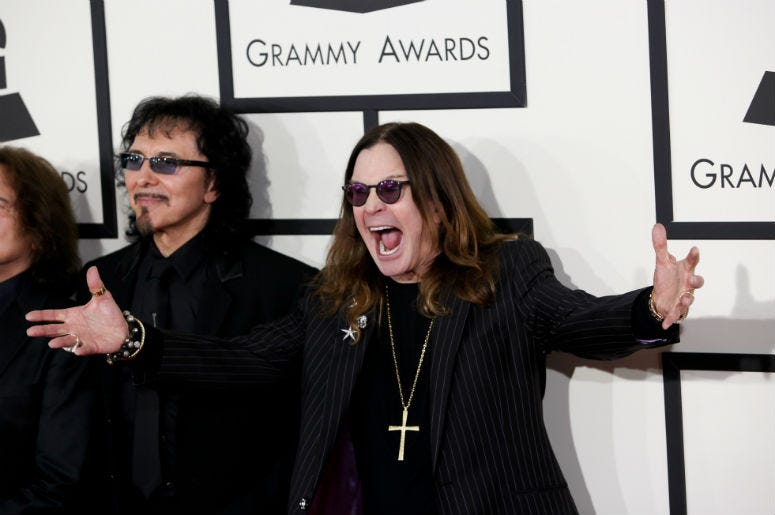 Ozzy Osbourne arrives at the 56th Grammy Awards held at the Staples Center on January 26, 2014 in Los Angeles, CA.