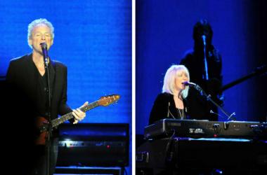 Christine McVie and Lindsey Buckingham of Fleetwood Mac