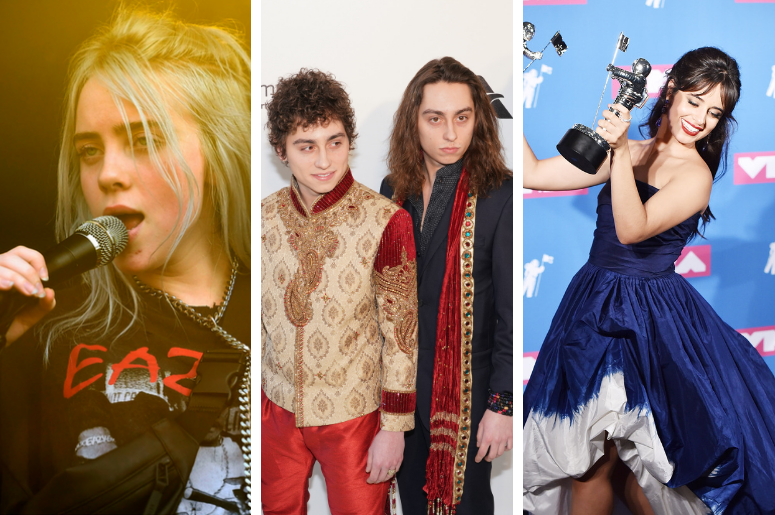 Billie Eilish, Greta Van Fleet, Camila Cabello