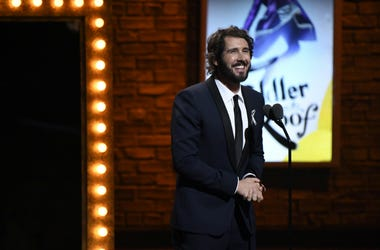 Josh Groban is a presenter during the 70th Tony Awards at the Beacon Theatre.