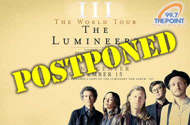 Lumineers Postponed
