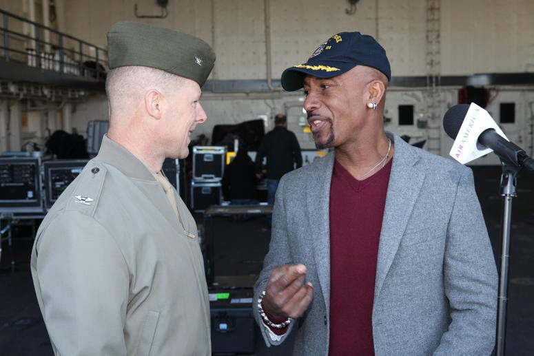 montel jordan with soldier