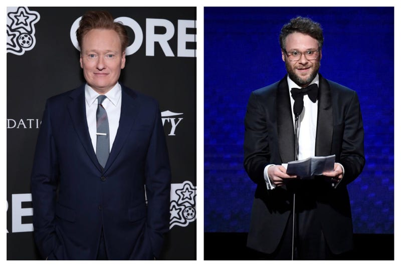 Conan O'Brien and Seth Rogen