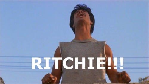 Bob yelling Ritchie!!!