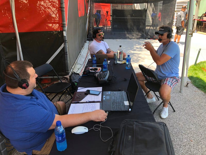 Jay Crawford joins Adam the Bull and Dustin Fox at Cleveland Browns training camp