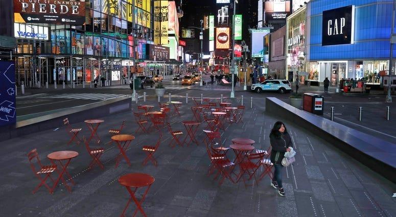 Times Square during the coronavirus