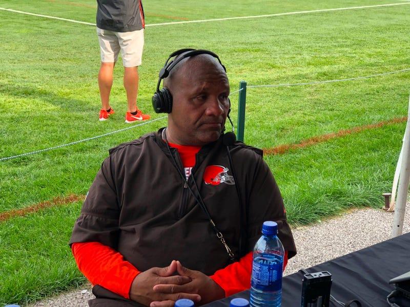 Hue Jackson at Browns Training Camp