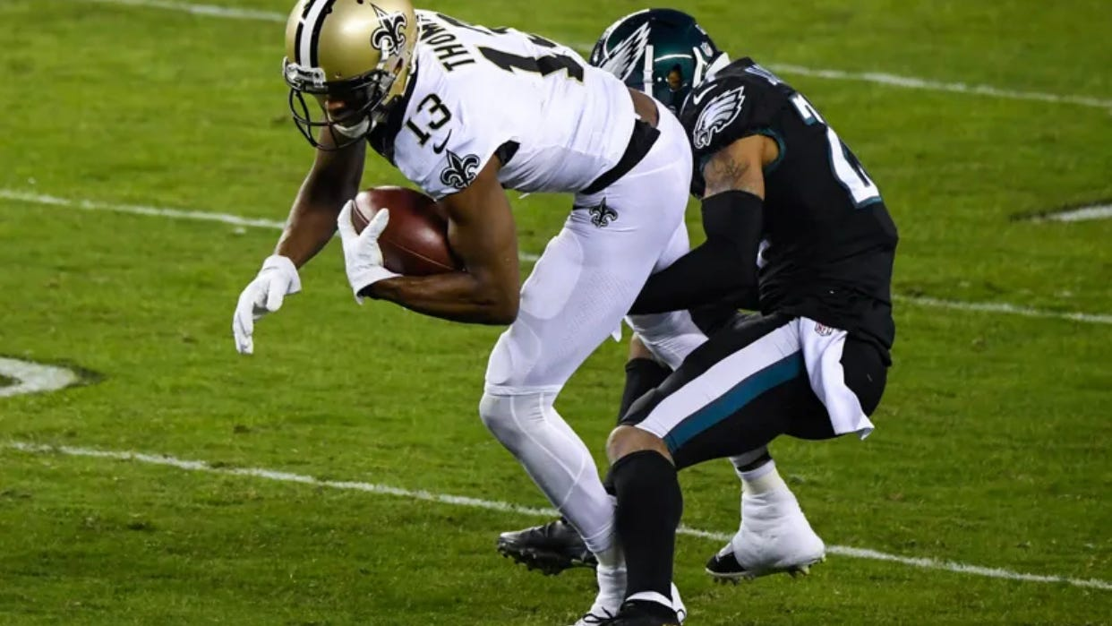 Michael Thomas likely to miss start of 2021 season due to ankle surgery: report