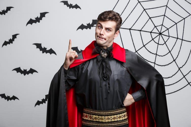 Vampire holding up 1 finger