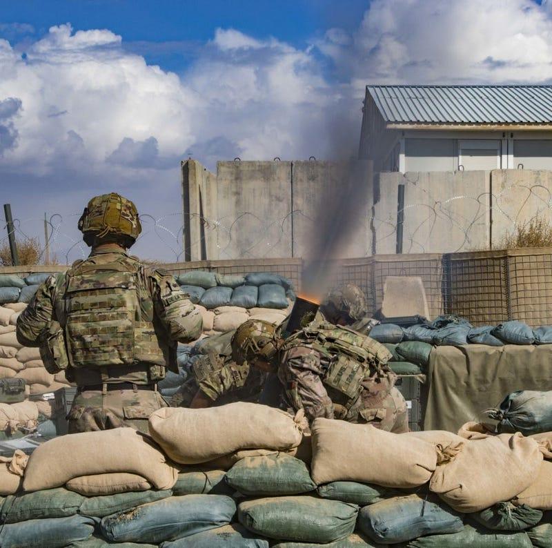 Mortar livefire in Afghanistan