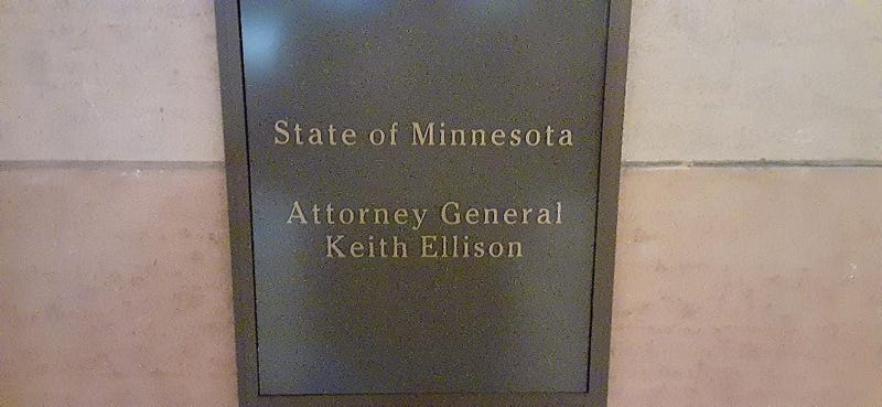 Keith Ellison name plate