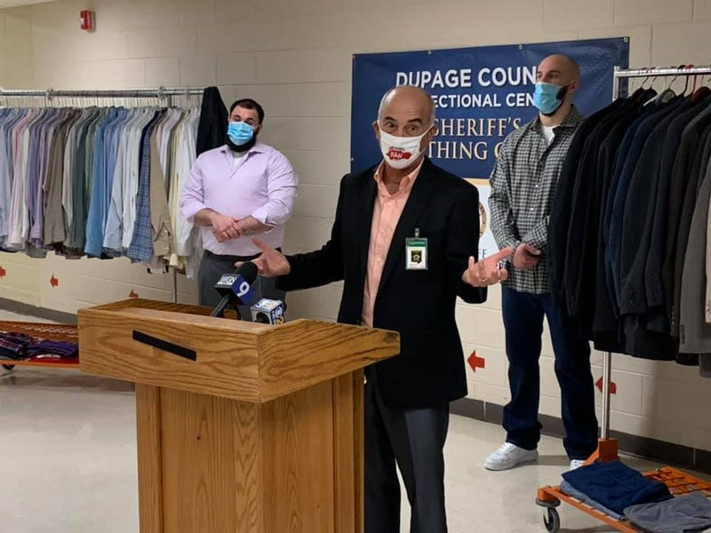 A Naperville-based nonprofit is helping provide some DuPage County inmates with new confidence and potential opportunities through clothing.