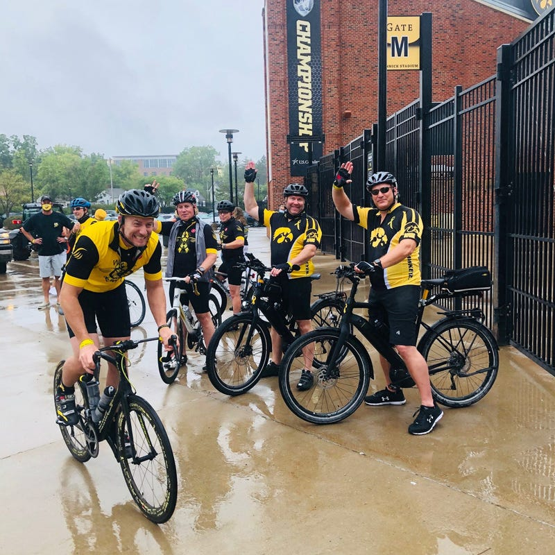 A group of bicyclists embarked on an inspirational ride Monday morning with a goal of raising money and awareness for pediatric cancer.