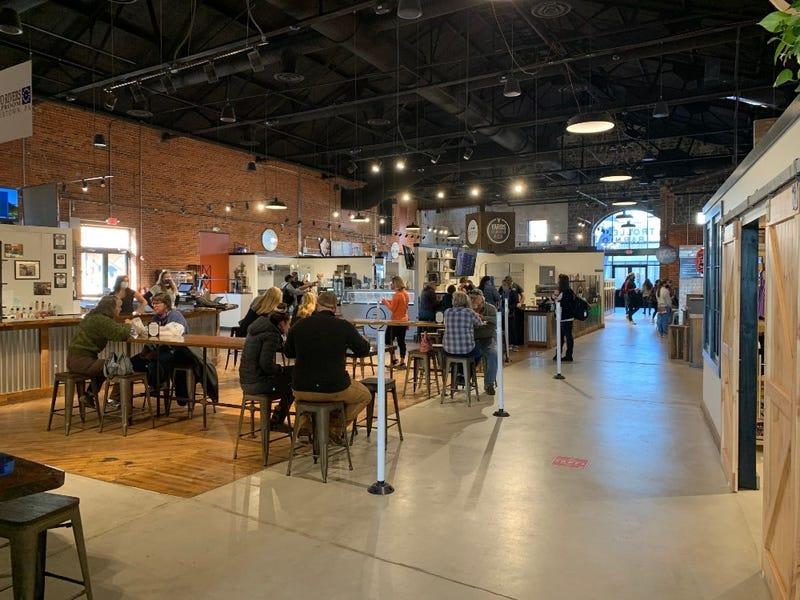 Inside the The Trolley Barn Public Market