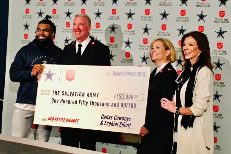 Dallas Cowboys, Ezekiel Elliott Donation To Salvation Army