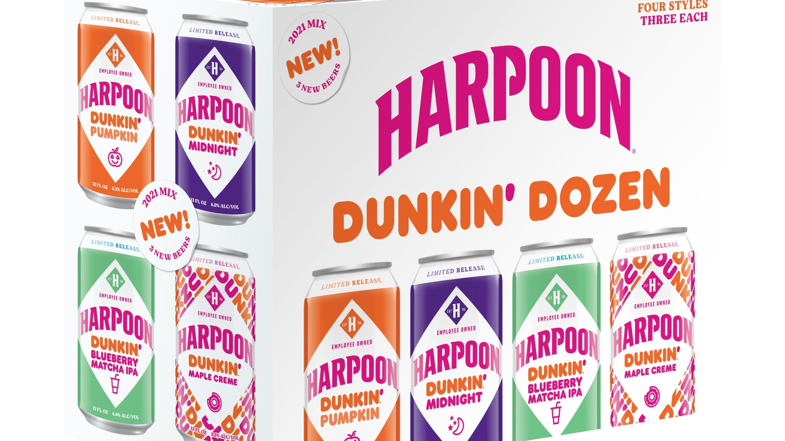 Dunkin' releasing 3 new fall beer flavors made with coffee, matcha, and donuts