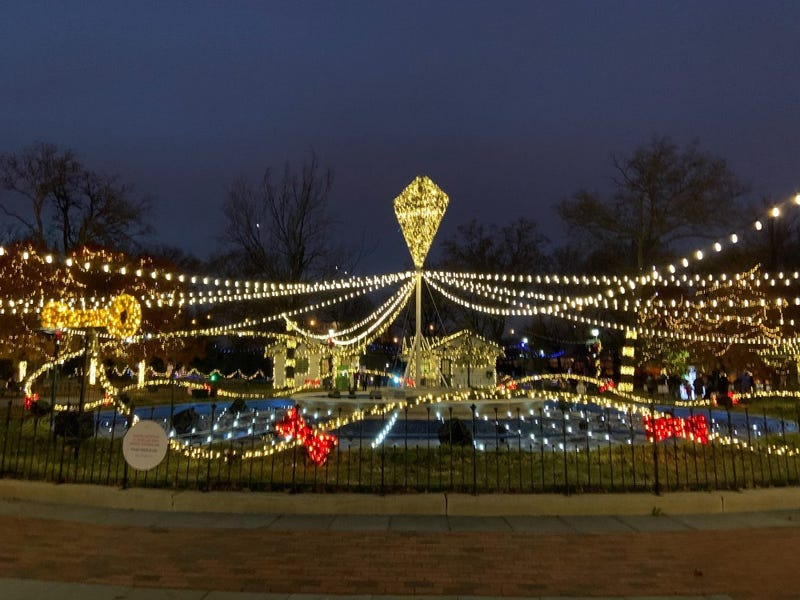 The light show at Franklin Square