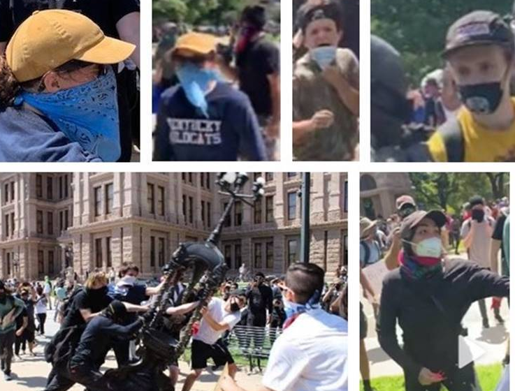 Texas State Capitol Damage Suspects