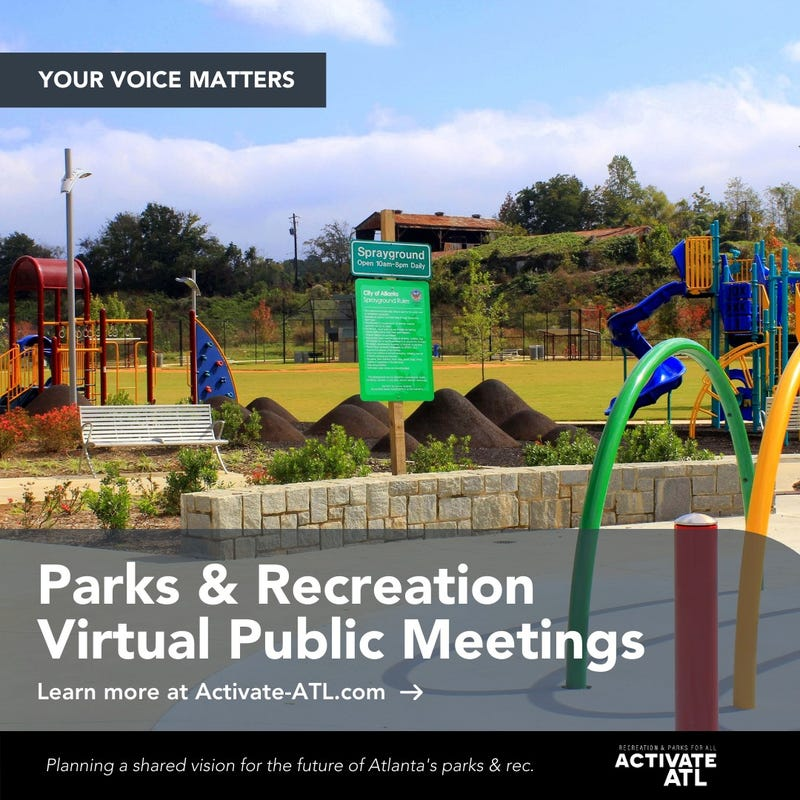 City of Atlanta Department of Parks and Recreation's 10-year comprehensive master planning campaign