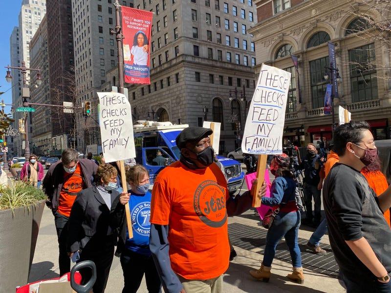Philadelphia Unemployment Project protest