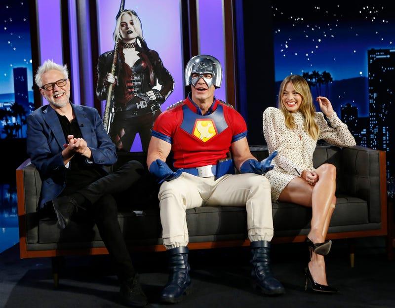 "Margot Robbie, John Cena and James Gunn (""The Suicide Squad"")"