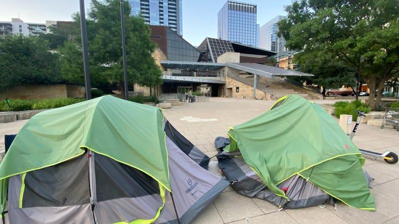 Austin City Hall homeless encampments