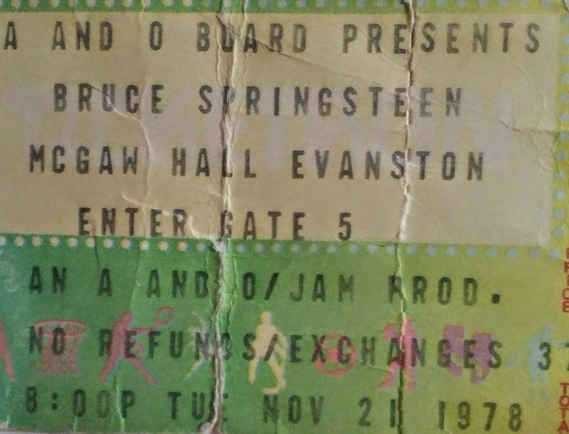 Springsteen 78 Concert Ticket Stub