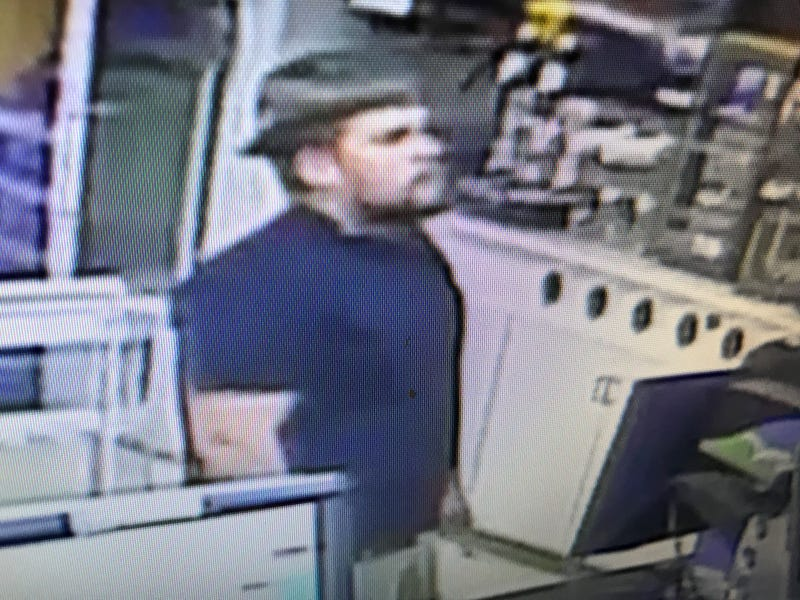 Suspect attempts to cash stolen lottery tickets