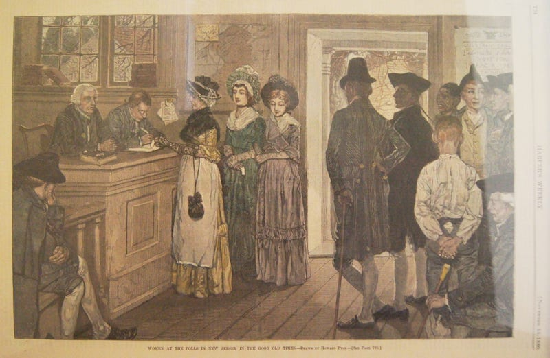 """""""Women At the Polls in New Jersey in the Good Old Times"""""""