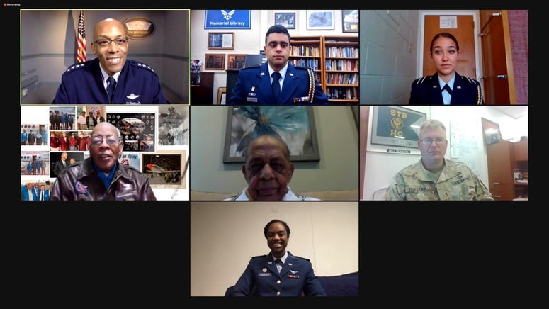 CSAF, Tuskegee Airmen, cadets connect via virtual roundtable