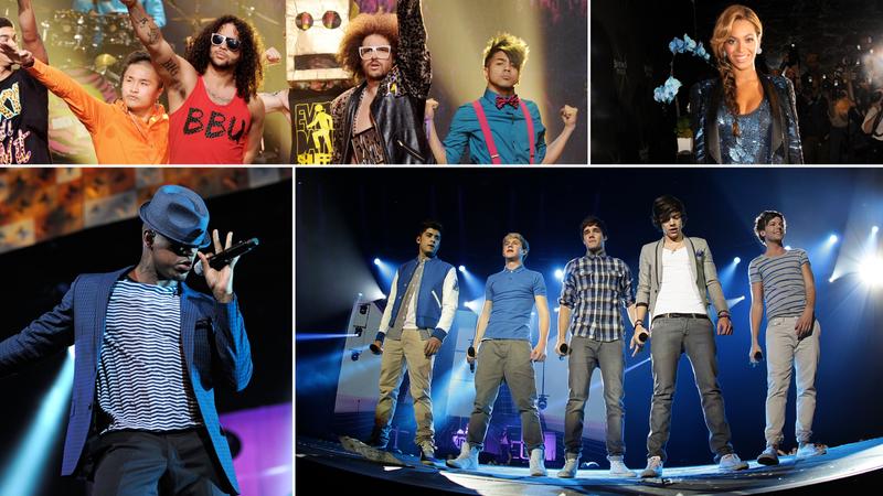 Neyo, LMFAO, Beyoncé, One Direction
