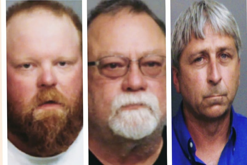 """Travis McMichael, Greg McMichael, and William""""Roddie"""" Bryan are charged with killing Ahmaud Arbery."""