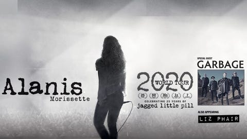 RESCHEDULED: Alanis Morissette with Garbage & Liz Phair