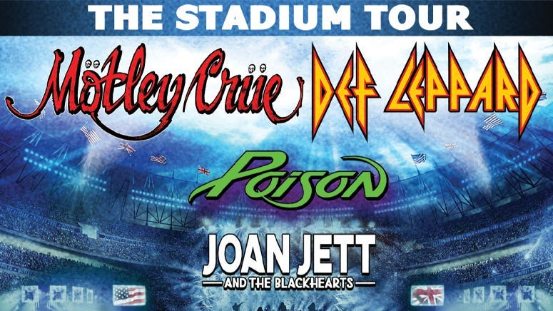 RESCHEDULED: Motley Crue, Def Leppard, Poison and Joan Jett & the Blackhearts