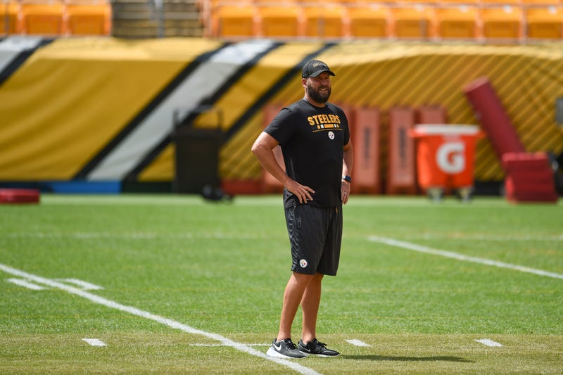 Pittsburgh Steelers quarterback Ben Roethlisberger (7) trains at Heinz Field during the Steelers 2020 Training Camp, Monday, Aug. 24, 2020 in Pittsburgh, PA.