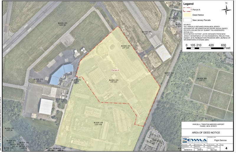 A description of planned expansion of the airport in Trenton, New Jersey.
