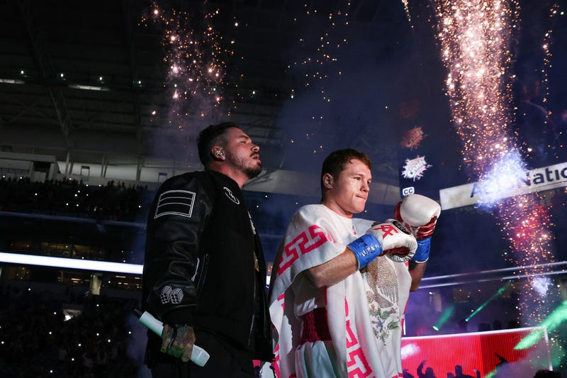 Saul Alvarez Walks To The Ring for his super middleweight championship bout at the Hard Rock Stadium in Miami, FL