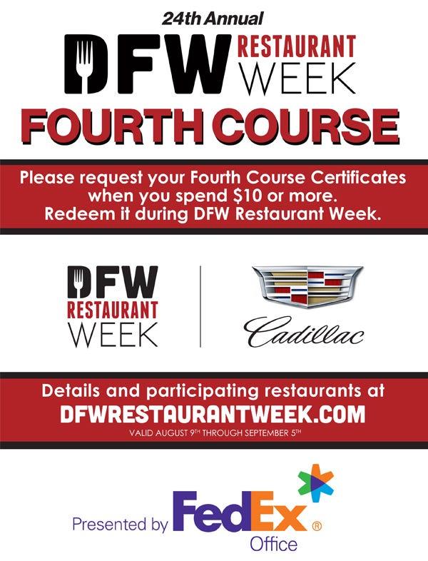 2021 DFW Restaurant Week FedEx Fourth Course social