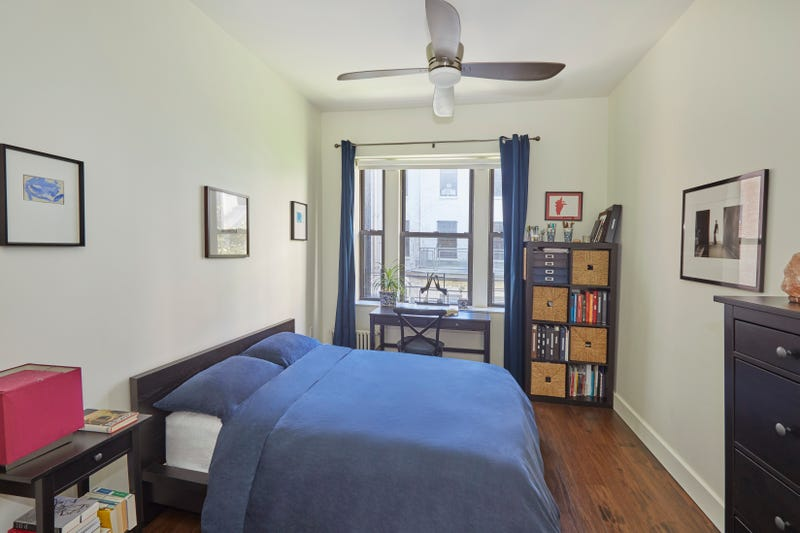 One of the bedrooms at at 622 West 114th Street, the apartment where Barack Obama lived while attending Columbia University.