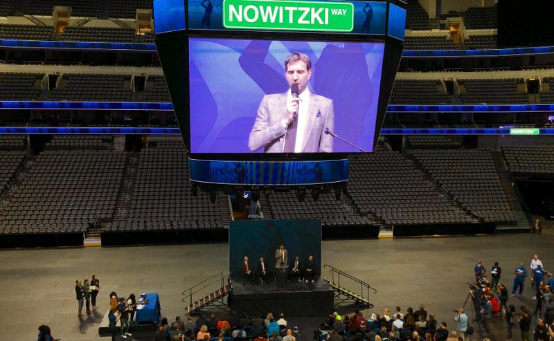 Dirk Nowitzki Street Naming Ceremony