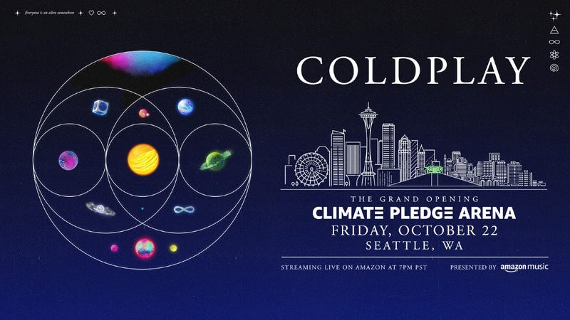 Coldplay concert announcement