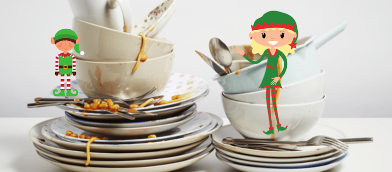 Elf on Dirty Dishes