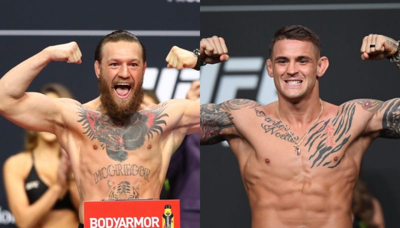 Conor McGregor and Dustin Poirier weigh-ins