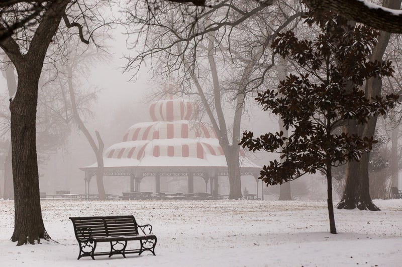 The Turkish Pavilion in winter, Tower Grove Park