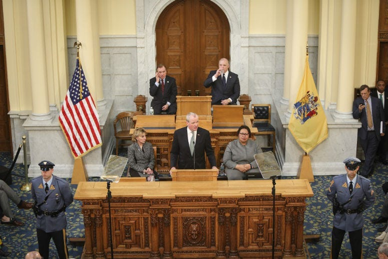 Governor Murphy presents the Fiscal Year 2020 Budget: A Blueprint for the Middle Class at the Assembly Chambers in Trenton, NJ on March 5th, 2019.