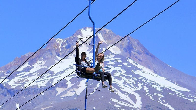 Taylor and Kailee on the Scenic Sky Chair
