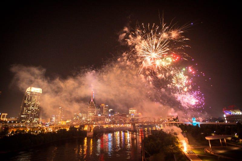Fourth of July fireworks in Nashville