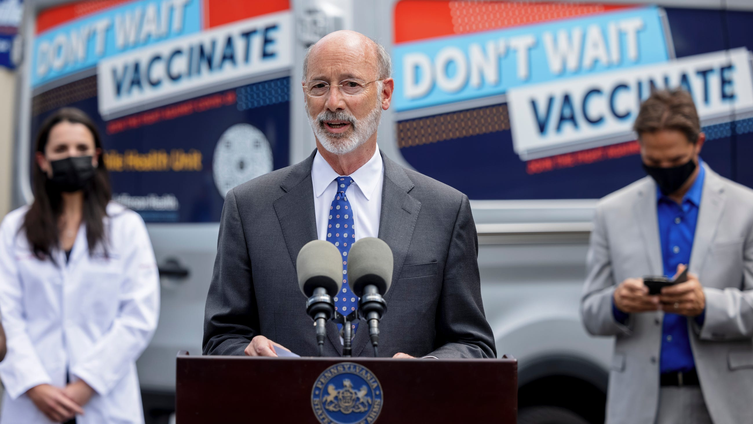 Wolf: State health care workers must be fully vaccinated against COVID-19 or tested weekly