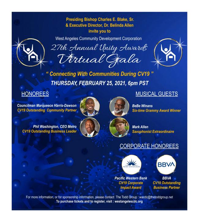 27th Annual Unity Awards Gala